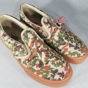 Vans Slip-On (Sketch Camo) Safari Skate Shoes